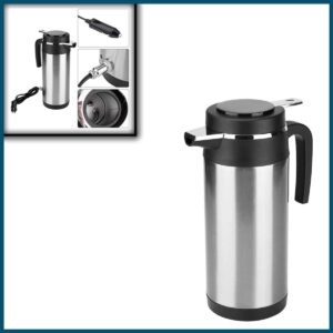 1200ml Car Kettle Thermos, Stainless Steel Travel Electric Kettles for Water Tea Coffee Milk