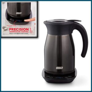 DASH Insulated Electric Kettle, Cordless 1.7L Easy Boil Hot Water Kettle