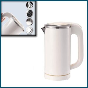 IronRen 0.5L Portable Electric Kettle, Mini Travel Kettle, Stainless Steel Water Kettle