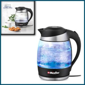 Mueller Premium 1500W Electric Kettle with SpeedBoil Tech, 1.8 Liter