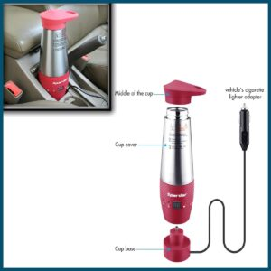 Sparder 12V Car Kettle Boiler, Electric Travel Portable Kettle Fast Water Boiler and Heater