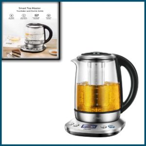 Electric Tea Kettle, Decent 1.7L Variable Temperature Electric Kettle, Fast Boil Glass Water Kettle