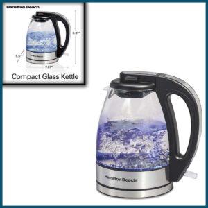 Hamilton Beach Glass Electric Tea Kettle