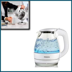 Ovente Portable Electric Glass Kettle