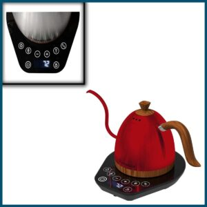 Red Stainless Steel Tea Kettle