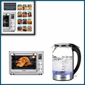 COSORI 12-in-1 Air Fryer Toaster Oven & Electric Kettle