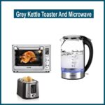 Grey Kettle Toaster And Microwave