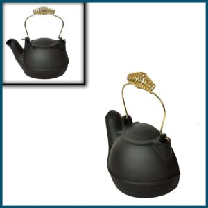 Quart Black Half Kettle