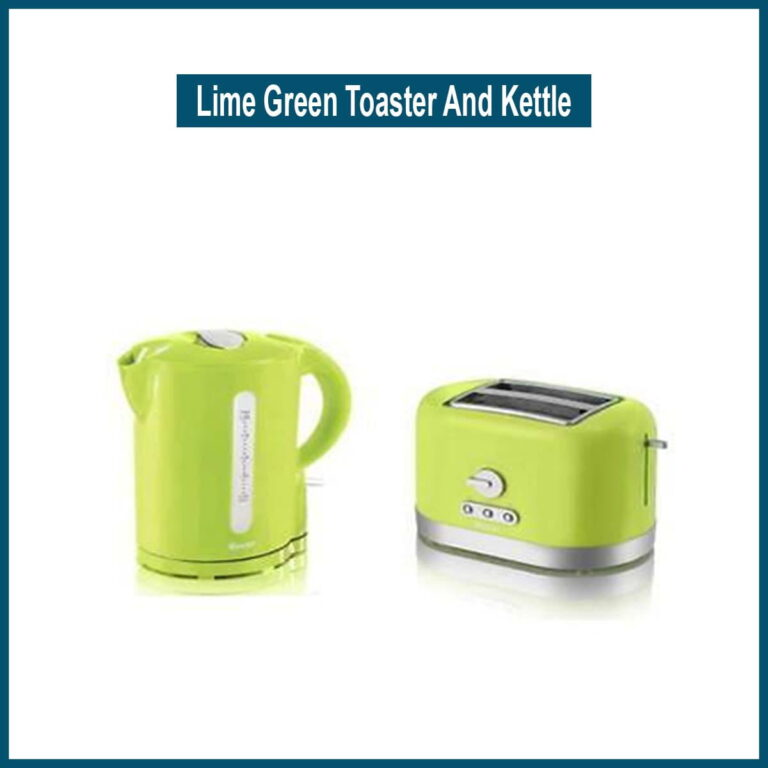 Lime Green Toaster And Kettle