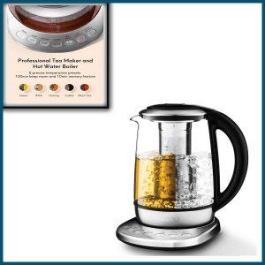 Electric Tea Kettle 1.7L Glass Teapot